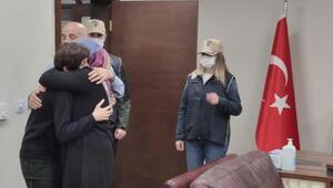 İkna edilen terörist Şırnakta ailesine kavuştu