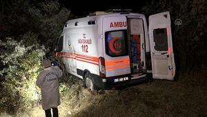 Ambulansı sollamaya çalışan otomobil karşı yönden gelen kamyonetle çarpıştı