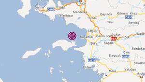 İzmir son dakika deprem Kuşadası körfezinde 4.2 büyüklüğünde deprem