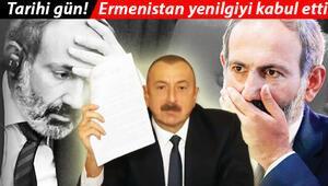 Son dakika: Paşinyan savaşı kaybettiklerini açıkladı.. Aliyev belgeyi gösterdi ve bu sözlerle zaferi ilan etti.. Ağlaya ağlaya imzalayacak