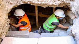 Diyarbakırın kalbinde 1700 yıllık mezar odaları bulundu