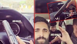 Son dakika haberler: Kontrol noktasından geçerken elindeki tabancayla video çekti O kişi yakalandı