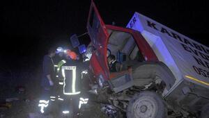 Tekirdağda devrilen kamyonda 3 kişi yaralandı