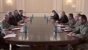 Azerbaycan Cumhurbaşkanı Aliyev, Çavuşoğlu, Akar, Dündar ve Fidanı kabul etti