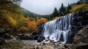 Torosların el değmemiş şelalelerinde sonbahar güzelliği