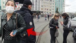 Taksimde şaşkına çeviren anlar Polise yakalanınca çıldırdılar…