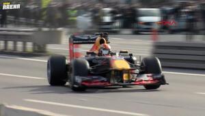 Formula 1 yarışı öncesi, tanıtım çekimleri için  15 Temmuz Şehitler köprüsü trafiğe kapatıldı