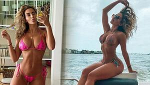 Claudia Sampedrodan Instagramı sallayan pozlar