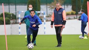 Teknik direktör Abdullah Avcı, Trabzonsporda ilk antrenmanına çıktı