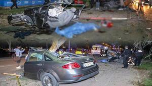 Son dakika... Makas atan otomobil ağaca çarparak ortadan ikiye ayrıldı: 1 ölü, 1 yaralı