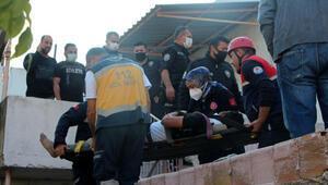 Tadilat sırasında yıkılan duvarın altında kalan işçi yaralandı