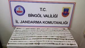 Bingölde 536 tarihi eser ele geçirildi