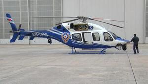 Koronavirüsle mücadeleye polis helikopteri desteği