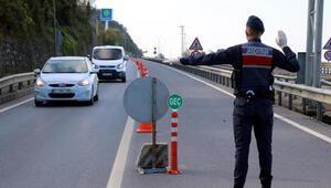 Zonguldakta kent girişlerinde jandarmanın denetimleri arttı