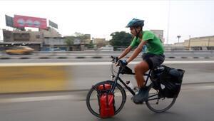 Iraklı genç Almanya'dan memleketine bisikletiyle geldi