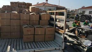 Ayvacıktaki depremzede yörüklerden İzmire yardım eli