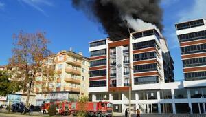 Ankarada çatı yangını
