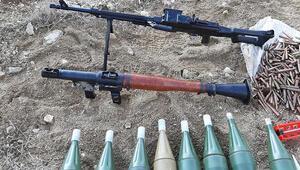 Vanda PKKya yönelik operasyon Çok sayıda mühimmat ele geçirildi