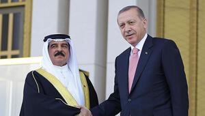 Cumhurbaşkanı Erdoğan Bahreyn Kralı Hamad Bin İsa El Halife ile görüştü