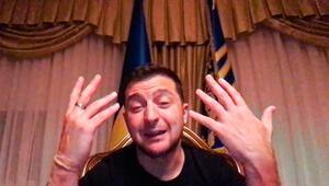 Koronavirüse yakalanan Ukrayna lideri Zelenskiyden görüntülü mesaj: Beni de pas geçmedi ama...