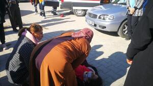 Pazara giden küçük kıza otomobil çarptı