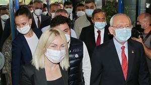 CHP Genel Başkanı Kılıçdaroğlu, Muhittin Böceki hastanede ziyaret etti
