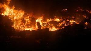 Otel çöplerinin atıldığı arazideki yangının nedeni araştırılıyor