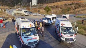 Bursada minibüsü ile otomobil çarpıştı: 7 yaralı