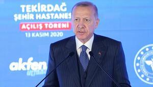 Son dakika… Cumhurbaşkanı Erdoğan Tekirdağ Şehir Hastanesinin açılışında konuştu