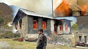 Ermeniler giderayak ortalığı ateşe veriyor Yakıp yıkıp kaçıyorlar