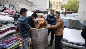 Son dakika... Depremzedelere dağıtılan battaniyeleri satmaya çalıştılar