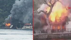 Son dakika haberi: İstanbul Çengelköyde Vaniköy Camisinde yangın çıktı