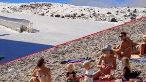 Son dakika... Antalyada yazdan kalma günler... Denizlide ilk kar yağışı