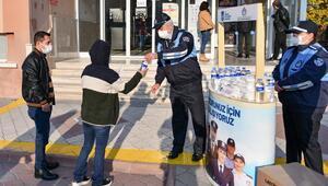 EKPSS adaylarına hijyen desteği