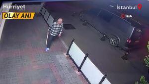 Dükkanına giren hırsızları sopayla kovaladı O anlar kamerada