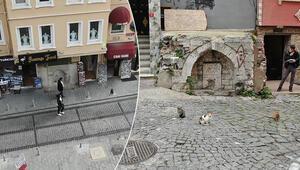 İstanbulda tarihi çeşme üstündeki binalar tepki çekti