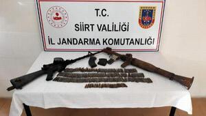 Siirt'te PKKya ait mühimmat ele geçirildi