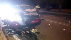 Motosikletle taksi çarpıştı: 1 ölü, 2 yaralı