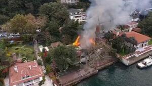Tarihi Vaniköy Camiindeki yangın: İmamla birlikte 5 kişinin ifadesi alındı