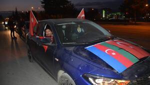 Tokatta, Azerbaycanın zaferine konvoylu kutlama