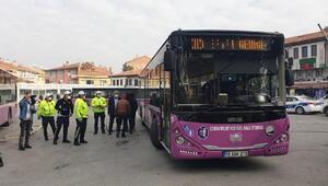 Sivil polislerden, otobüslerde koronavirüs denetimi