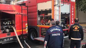 Adıyamanda bodrum katta yangın çıktı; 2 kişi dumandan etkilendi