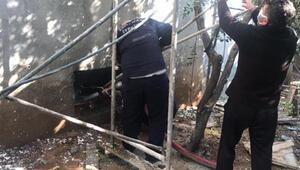 Bodrum katta yangın çıktı; 2 kişi dumandan etkilendi