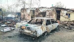 Babaeskideki yangında ev ve otomobil kullanılamaz hale geldi