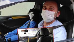 Son dakika haberler: Aracında cansız mankeni görenler şaşkına dönüyor... Düzcede taksiciden ilginç koronavirüs tedbiri