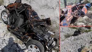 Şaşırtan görüntü 1517 metre yükseklikte kaza yapan araçlar...