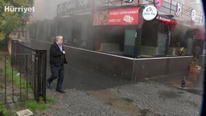 Ataşehirde restoranda yangın, öğrenci yurdunda panik