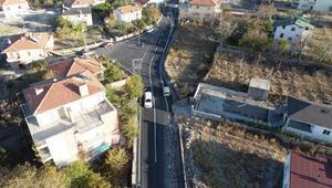 Melikgazide asfaltlama çalışmaları sürüyor