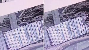 Beylikdüzünde başına taş düşen işçi öldü, o anlar kamerada