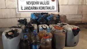 Nevşehirde 460 litre kaçak şarap ele geçirildi